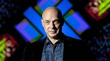 Brian Eno in front of his new exhibition at the Glenbow Museum in Calgary (The Globe and Mail)
