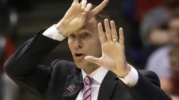 Iowa State head coach Fred Hoiberg calls a play in the second half of a third-round game of the NCAA college basketball tournament against Ohio State Sunday March 24, 2013, in Dayton, Ohio. (Al Behrman/AP)