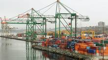 A container terminal in Halifax in this 2008 photo. (Paul Darrow for The Globe and Mail)