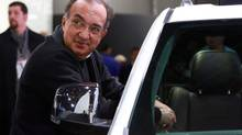 Sergio Marchionne, chief executive of Fiat and Chrysler, at the North American International Auto Show at the Cobo Center in Detroit, Jan. 13, 2013. (FABRIZIO COSTANTINI/NYT)