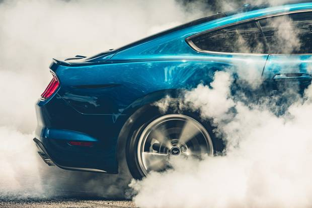 The Mustang's exhaust can be set to four different sound levels.
