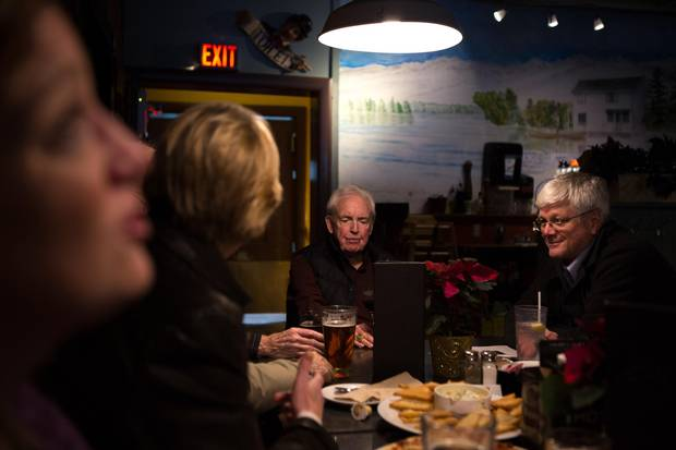 Former staff and supporters of the Orillia Packet and Times gathered at a local bar Friday night for a sendoff for the recently closed newspaper.