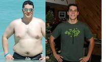 Alan Martin before and after his 90-pound weight loss.