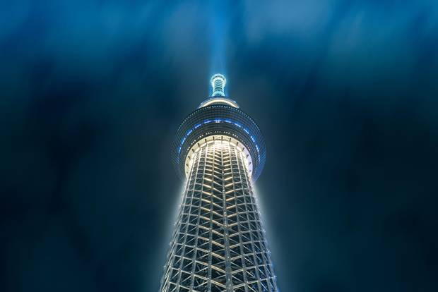 Tokyo Skytree - the world's tallest free-standing tower - is an inexpensive way to see the vast expanse of Tokyo's skyline.