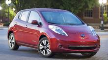 2014 Nissan LEAF: Nissan sold just 470 LEAF battery-powered cars last year. (Nissan)
