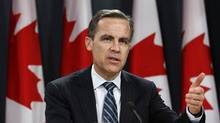 Bank of Canada Governor Mark Carney speaks during a news conference upon the release of the Monetary Policy Report in Ottawa January 18, 2012. (CHRIS WATTIE/CHRIS WATTIE/REUTERS)