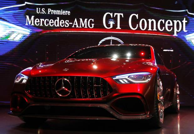 The Mercedes-AMG GT Concept car.