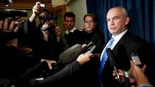 B.C. Liberal MLA Bill Bennett addresses reporters in Victoria in November 2010. (Deddeda Stemler for the Globe and Mail)
