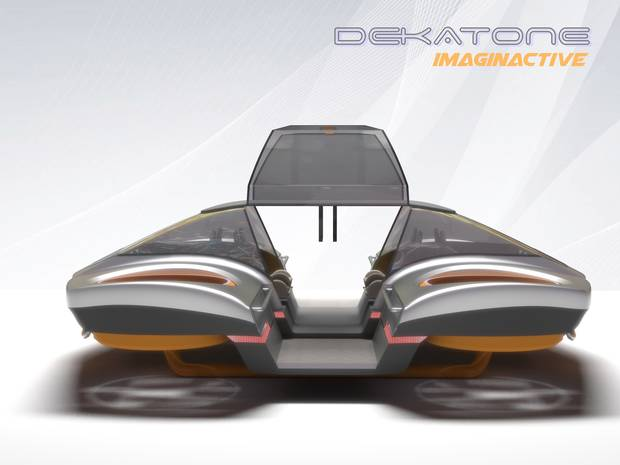The car's clever control mechanism would create a new type of flying experience.