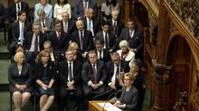 Ontario Premier Kathleen Wynne speaks during the swearing-in ceremony for members of the executive council of the province of Ontario at Queen's Park in Toronto, Ontario June 24, 2014. (AARON HARRIS/REUTERS)