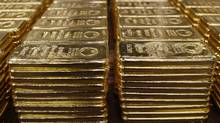 File photo of bars of 250 gram fine gold being stored at a plant of gold refiner and bar manufacturer Argor-Heraeus SA in the southern Swiss town of Mendrisio, November 13, 2008. (ARND WIEGMANN/Arnd Wiegmann/Reuters)