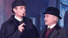 "Matt Frewer as Sherlock Holmes and Kenneth Welsh as Dr. Watson in ""The Sign of Four"" (CTV)"