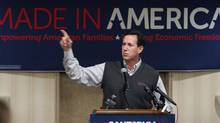 Republican presidential candidate, former Pennsylvania Sen. Rick Santorum speaks during a rally, Monday, Feb. 20, 2012, in Muskegon, Mich. ( (Al Goldis/AP/Al Goldis/AP)