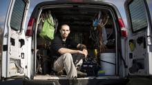Jeffrey Moore, the boy at the centre of a discrimination case based on his learning disability, became an adult and a successful plumber in North Vancouver in the years it took his case to reach the Supreme Court of Canada. (John Lehmann/The Globe and Mail)