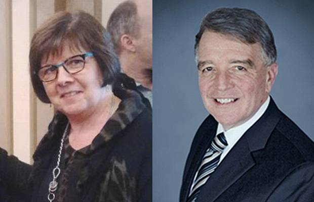 Patricia Sorbara, left, faces two charges of bribery under the Ontario Elections Act while Gerry Lougheed faces one.