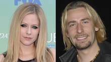 Avril Lavigne (left) and Chad Kroeger (right) (Associated Press/Janice Pinto for the Globe and Mail)