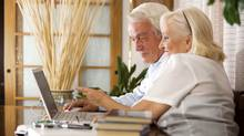 iStockPhoto - ROYALTY-FREE Senior still learning - Close up of a senior happy couple surfing the net with a laptop. (Luca di Filippo/iStockPhoto)