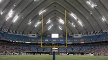 The inside of B.C. Place is seen during a CFL game against the B.C. Lions and the Toronto Argonauts in Vancouver, B.C. Saturday, Sept. 19, 2009. (JONATHAN HAYWARD/THE CANADIAN PRESS)