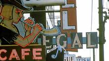 The Peter Pan Cafe sign in Vancouver, November 1968. (Handout/Handout)