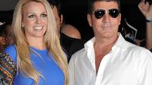 "Britney Spears and Simon Cowell attend ""The X Factor"" season two premiere at Grauman's Chinese Theatre on Tuesday, Sept. 11, 2012, in Los Angeles. (Jordan Strauss/Jordan Strauss/Invision/AP)"