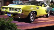 The 1971 Plymouth Cuda owned by Robert Young of Whitby, Ont., won the gold medal in the Cruise Nationals competition. (Bob English for The Globe and Mail)