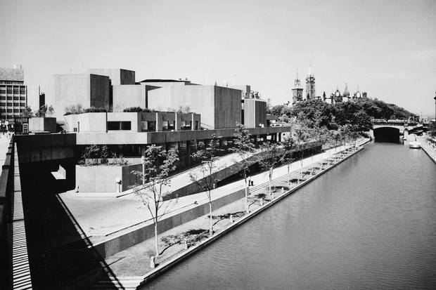 The National Arts Centre is shown during its construction in this 1968 photo.