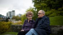 Poets Patrick Lane and his wife Lorna Crozier are photographed in Vancouver, British Columbia, Friday, October 19, 2012. (Rafal Gerszak For The Globe and Mail)