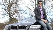 'Neat freak' Drew Scott and his 2013 BMW 328xi. (J.P. MOCZULSKI For The Globe and Mail)