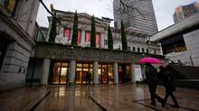 A couple walks into the Vancouver Art Gallery, December 13, 2012. (DARRYL DYCK For The Globe and Mail)