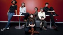 TIFF Next Wave Committee members (L to R) Samah Ali, Larissa Rinkoff, Emma Seligman, Tucker Mclachlan, Gabriel Chazan and Jose Camargo: The teens helped program the TIFF Next Wave Film Festival, which takes place May 10-12, 2012. (Michelle Siu for The Globe and Mail)