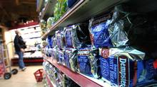 \The bread section of a Rabba store on Front St. in Toronto is seen in these photos. (Deborah Baic/The Globe and Mail)