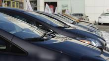 File photo of cars for sale on the lot at a Toyota dealership in Toronto. (Fred Lum/Fred Lum/The Globe and Mail)