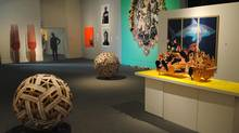 "A view of the ""contemporary"" room at the Art Gallery of Mississauga's Jamaican art exhibition."