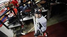 The Calgary Flames' Michael Cammalleri says the NHL's rigorous schedule can accentuate players' substance abuse problems. (Jeff McIntosh/THE CANADIAN PRESS)
