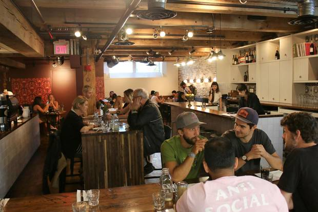 Clementine, an acclaimed brunch spot in Winnipeg's Exchange District.