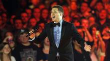 Canadian musician and host Michael Buble performs during the Juno Awards show in Regina, Saskatchewan, April 21, 2013. (TODD KOROL/REUTERS)
