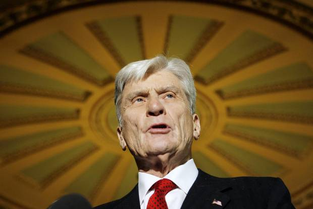 Senator John Warner on Capitol Hill in Washington in 2006.