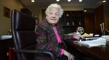 Hazel McCallion, the long serving mayor of the city of Mississauga, Ont., will testify at a legislative committee investigating the costly decision to cancel two gas-fired electricity plants in the Toronto suburbs. (Fred Lum/The Globe and Mail)