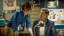 The November Man, starring Olga Kurylenko and Pierce Brosnan, opens in theatres on Wednesday.