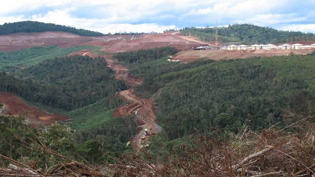 Photo of the site of Sherritt's Ambatovy cobalt mining project in Madagascar by Geoffrey York.