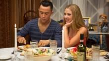 Joseph Gordon-Levitt and Scarlett Johansson attend the requisite family dinner in Don Jon. (Daniel McFadden/AP)