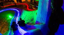 The Ice On Whyte Festival in Edmonton is a family-friendly event, featuring a giant ice slide.