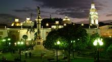 Public spaces, such as the Plaza Grande, above, fill with music, street theatre and dance every Sunday. (Quito Turismo)