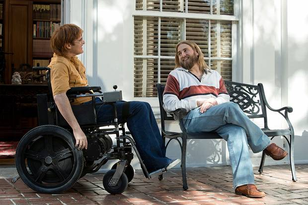 Joaquin Phoenix and Jonah Hill in Don't Worry, He Won't Get Far on Foot.