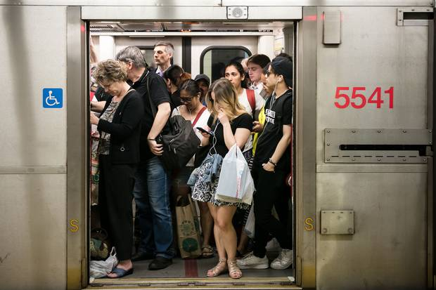Yonge-Bloor station at evening rush hour is often overcrowded, but the TTC hopes a new automatic train-control system will help to change that. The system is currently being installed in phases along the Yonge-University-Spadina line.