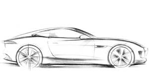 Concept sketch of Jaguar C-X16 coupe to debut at Frankfurt motor show in September.