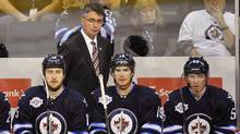 Winnipeg Jets' head coach Claude Noel is upset at Shaw Communications for glitches in the cable company's Jets broadcasts. REUTERS/Fred Greenslade (FRED GREENSLADE/REUTERS)