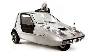 Bond Bug Three-Wheeler: The Bug's design was shaped by contorted British tax laws that made it cheaper to license a vehicle with three wheels than a car with a wheel at each corner.