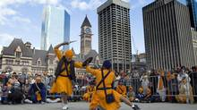 Performance during the Sikh community's Khalsa celebrations in Toronto on April 27, 2014. (Peter Power)