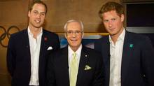 Prince William, CTV host Brian Williams and Prince Harry. (CNW Group/Canada's Olympic Broadcast Media Consortium)